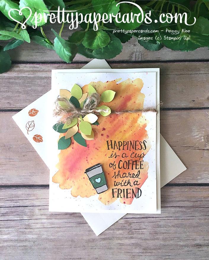 Stampin' Up! Coffee Cafe Card - Peggy Noe - stampinup Tic Tac Toe Challenge