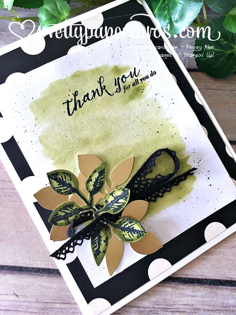 Stampin' Up! Global Design Thank You Card - Peggy Noe - stampinup