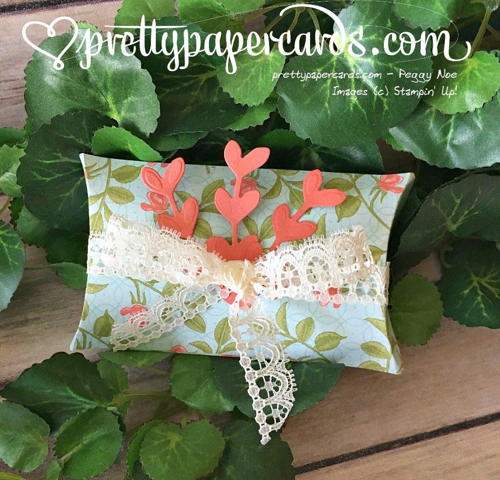 Stampin' Up! Petal Garden Pillowbox - Peggy Noe - stampinup