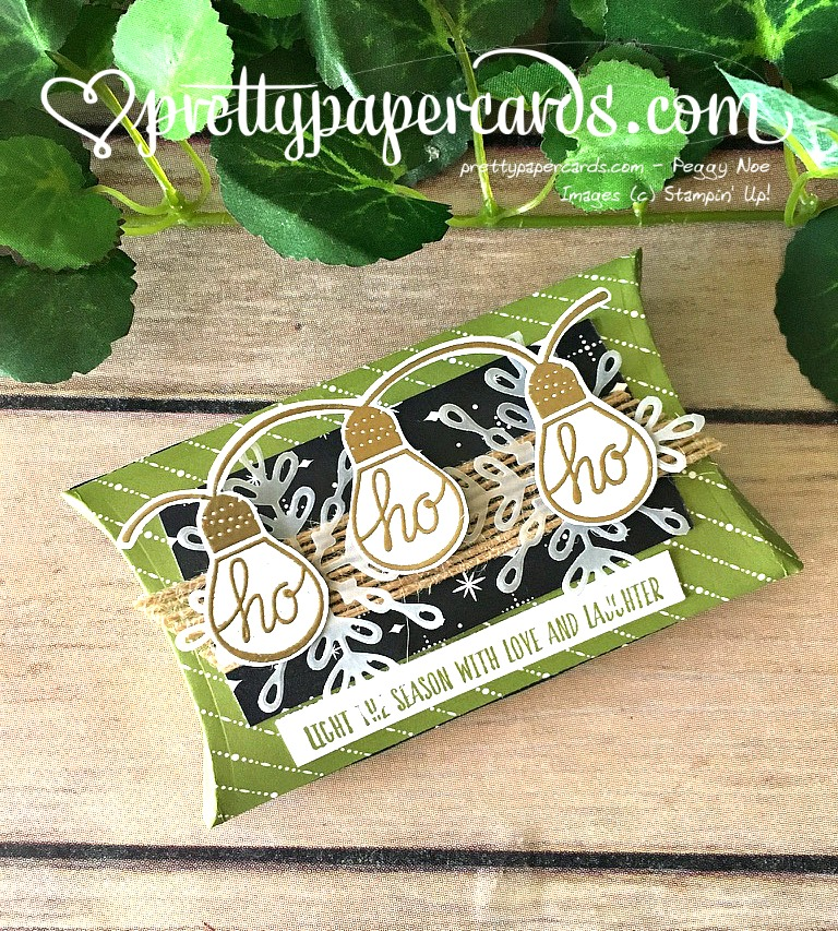 Stampin' Up! Pillowbox Trim Your Stocking - Peggy Noe - stampinup
