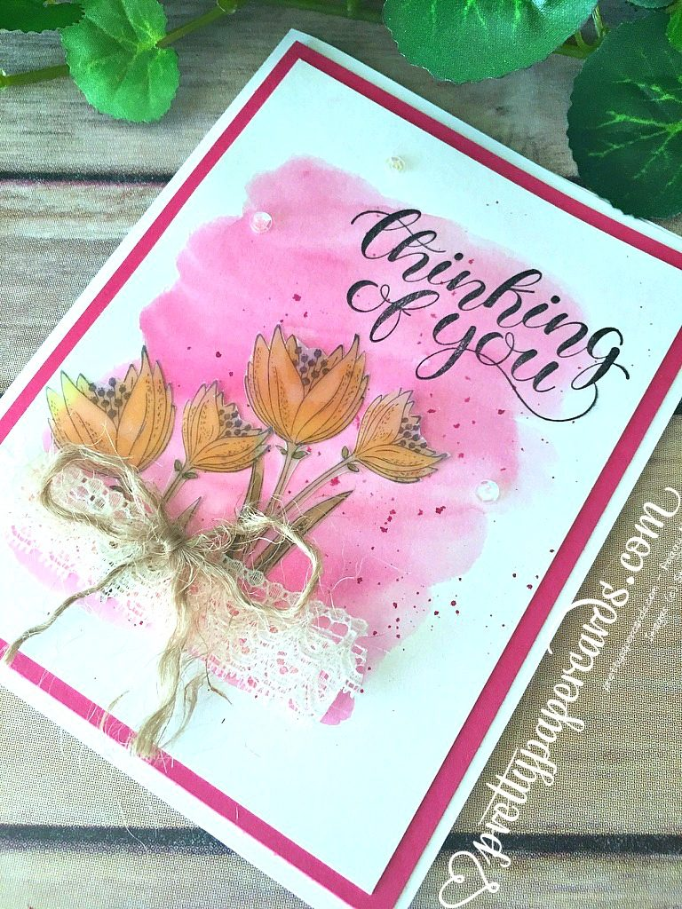 Stampin' Up! Pretty Paper Cards Thinking of You - Peggy Noe - stampinup
