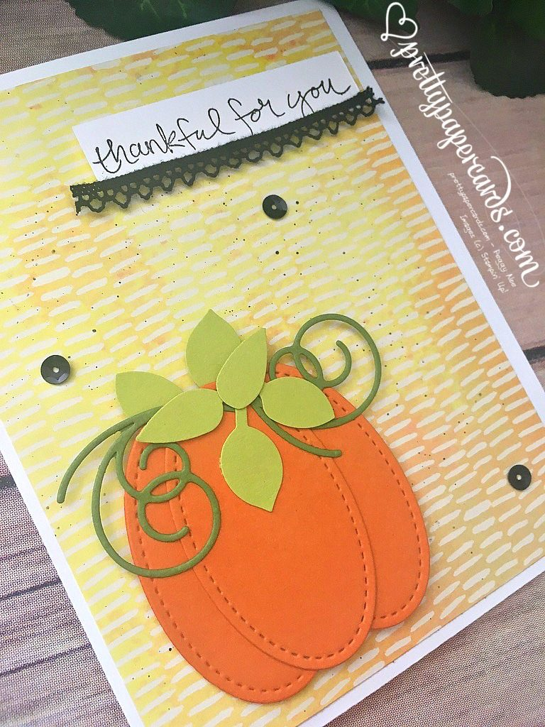 Stampin' Up! Sheltering Tree Thankful Card - Peggy Noe - Pumpkin Card