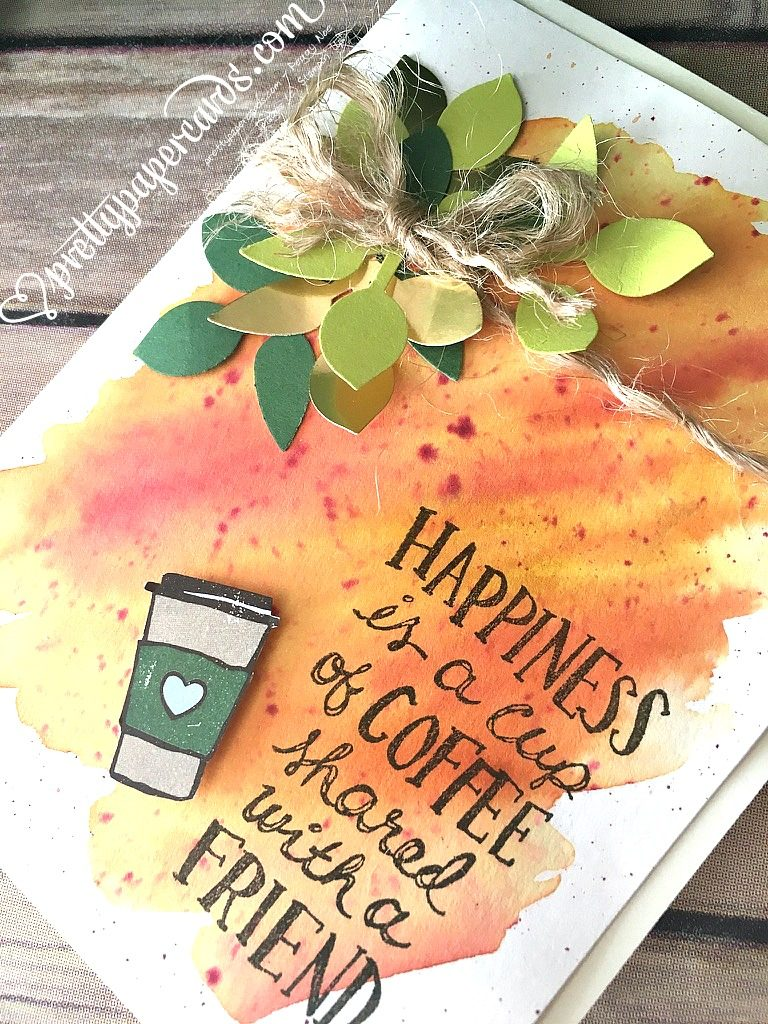 Stampin' Up! Tic Tac Toe Challenge Coffee Card - Peggy Noe - Coffee Cafe