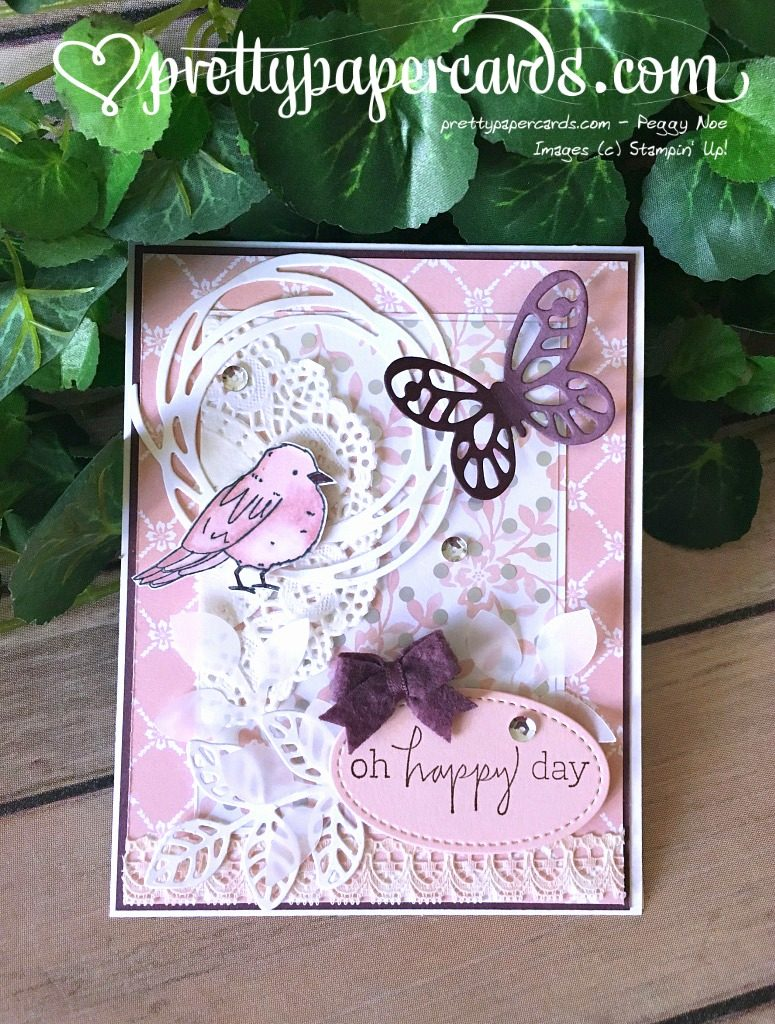 Stampin' Up! Tic Tac Toe Challenge Happiest of Days - Peggy Noe - stampinup