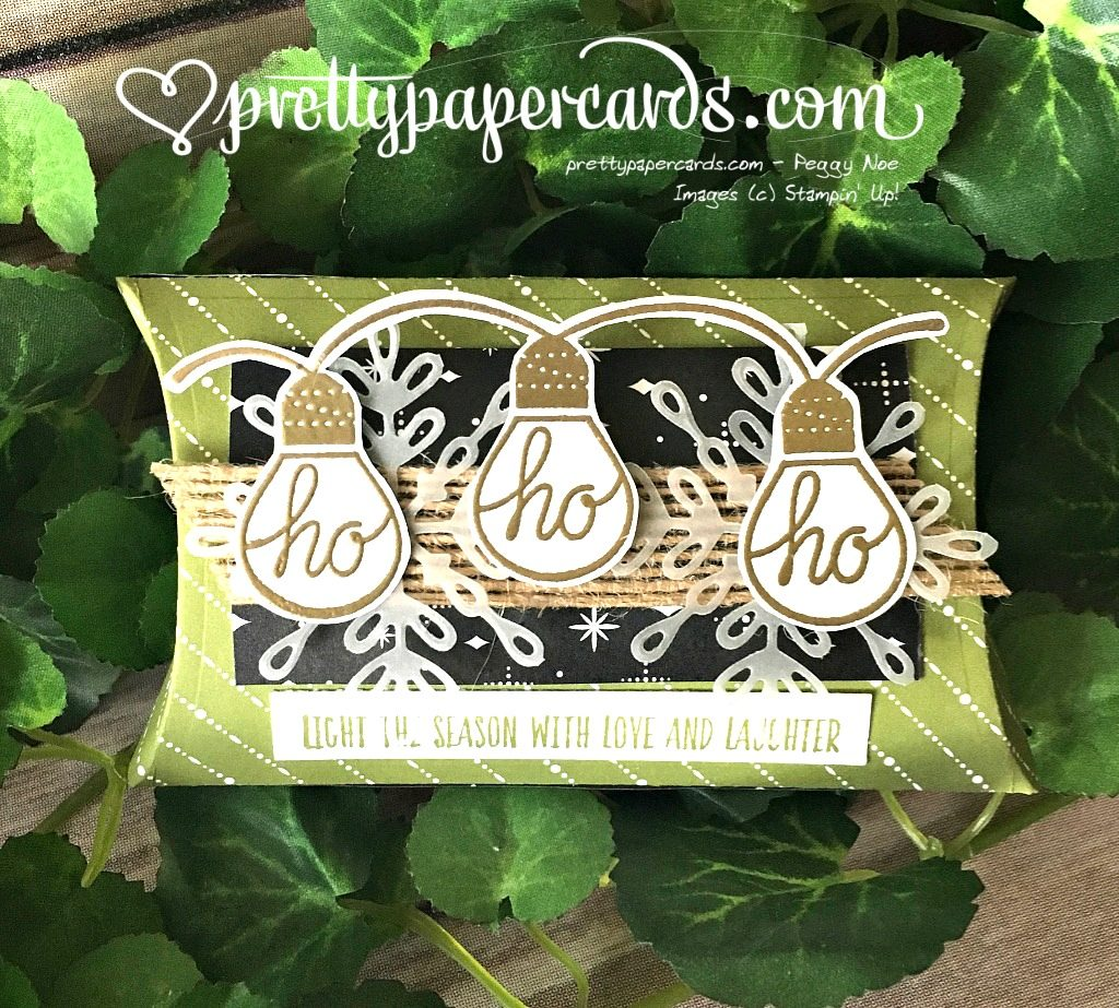 Stampin' Up! Trim Your Stocking Thinlits Dies pillowbox - Peggy Noe - stampinup