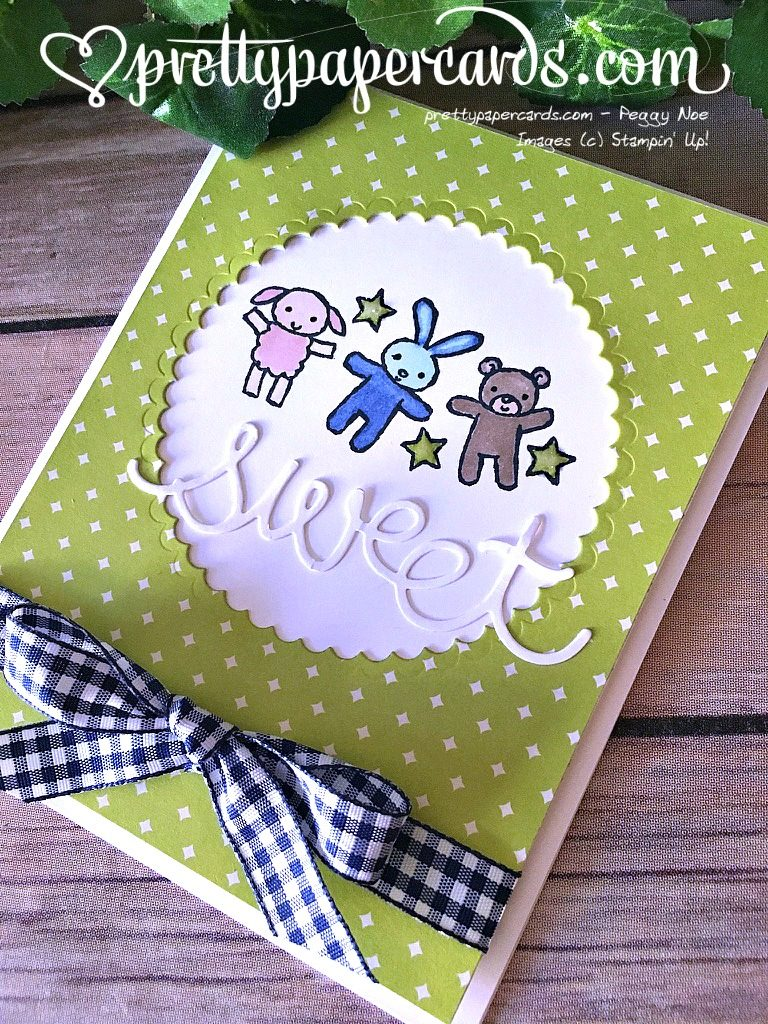 Prettypapercards Stampin' Up! Gingham Moon Baby - Peggy Noe - stampinup