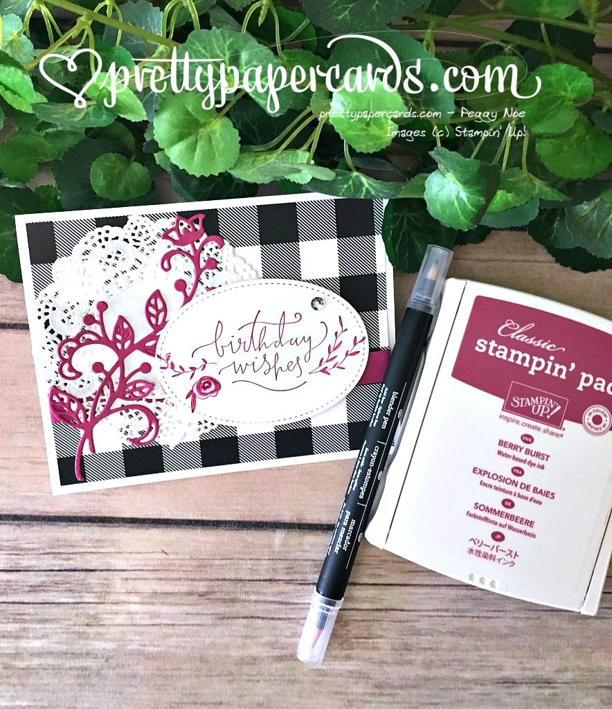 Prettypapercards Stampin' Up! Happiest of Days Card - Peggy Noe - stampinup