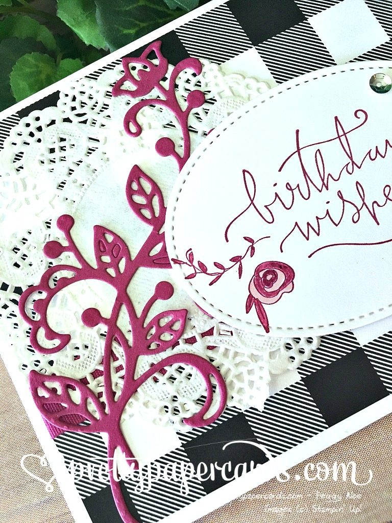 Prettypapercards Stampin' Up! Happiest of Days Flourish - Peggy Noe - stampinup