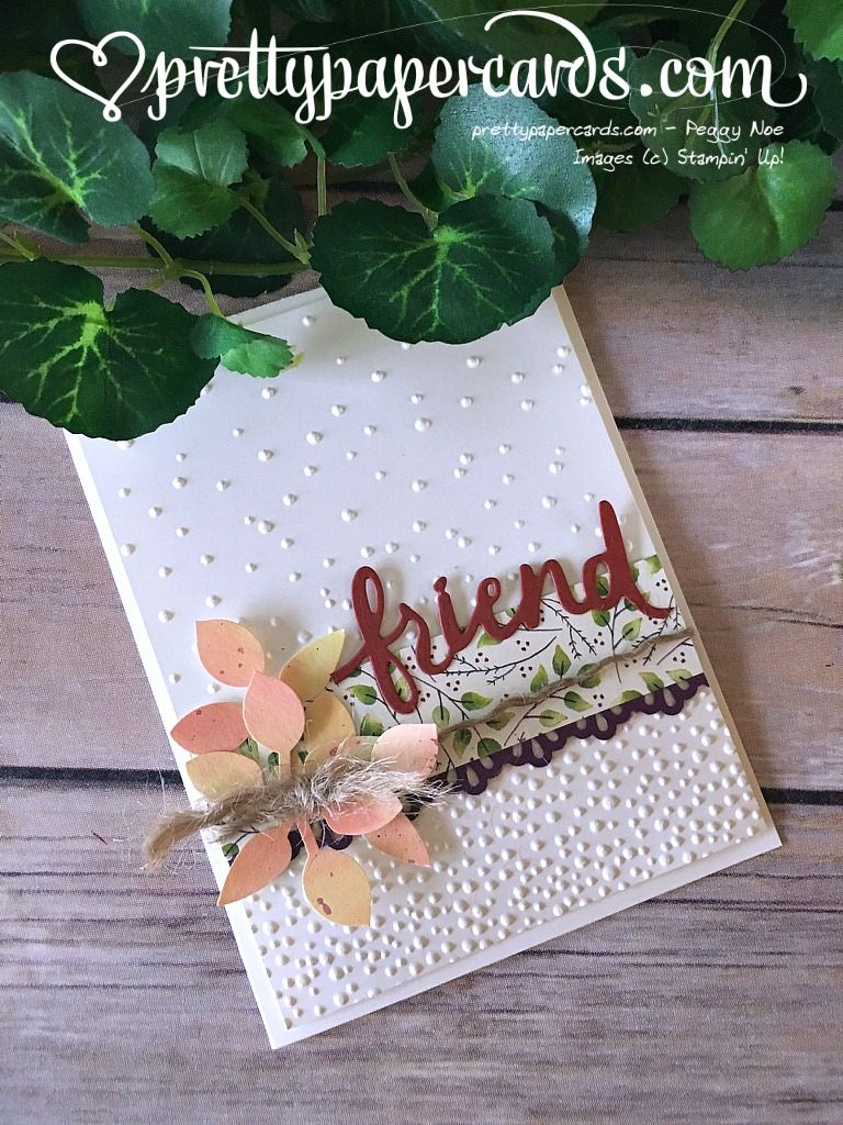 Prettypapercards Stampin' Up! Leaf Punch - Peggy Noe - stampinup