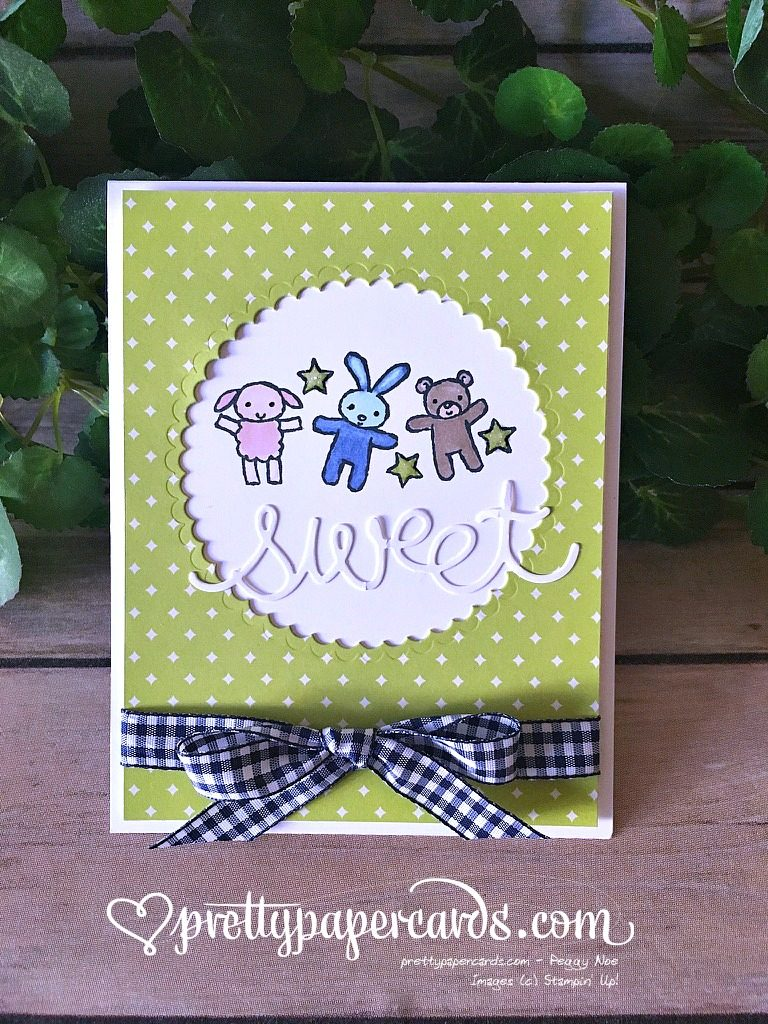 Prettypapercards Stampin' Up! Moon Baby Lemon Lime - Peggy Noe - stampinup