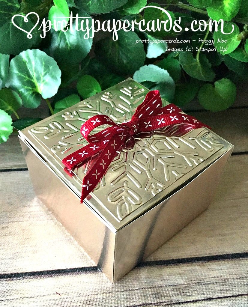 Stampin' Up! Champagne Foil Holiday Box - Prettypapercards - stampinup