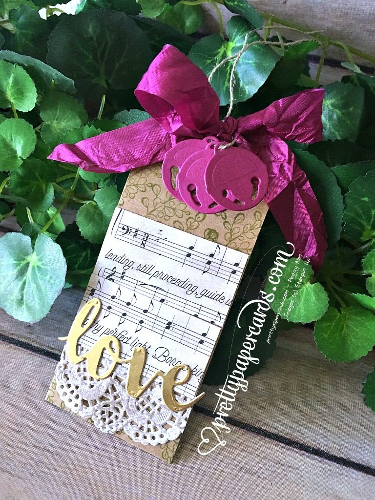 Stampin' Up! Love Gift Tag - Peggy Noe - stampinup