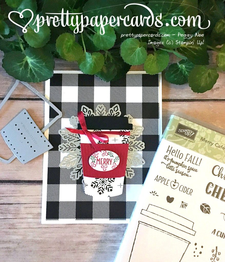 Stampin' Up! Merry Cafe Holiday Card - Peggy Noe - stampinup