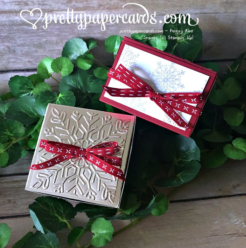 Stampin' Up! Prettypapercards Gift Boxes - Peggy Noe - stampinup