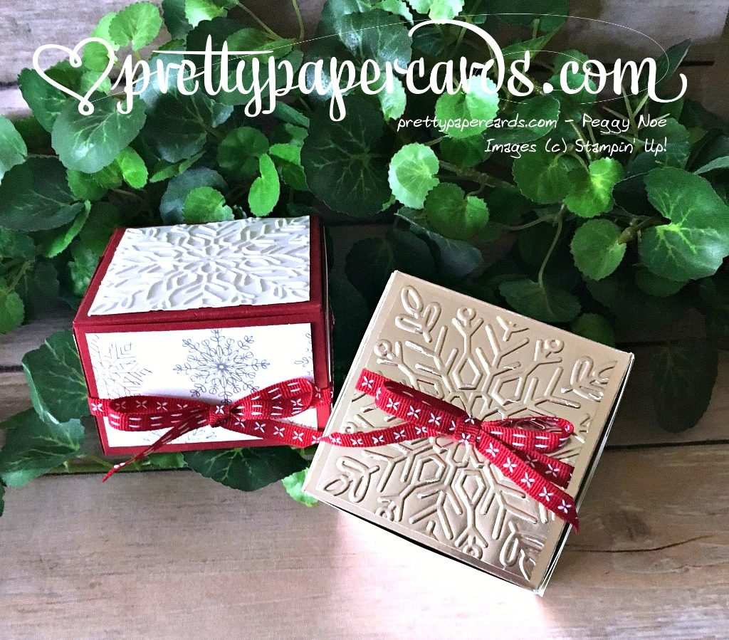 Stampin' Up! Prettypapercards Handmade Gift Box - Peggy Noe - stampinup