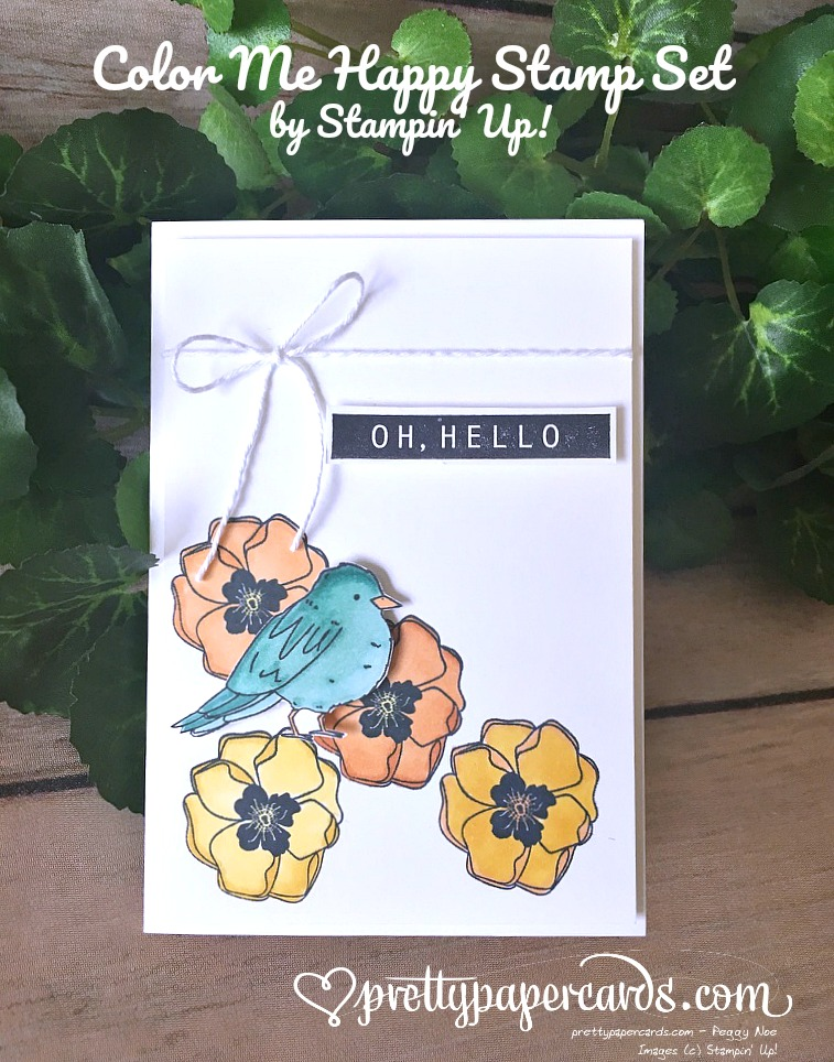 Stampin' Up! Sweet Bird Stampin' Blends Color Me Happy - Peggy Noe - stampinup