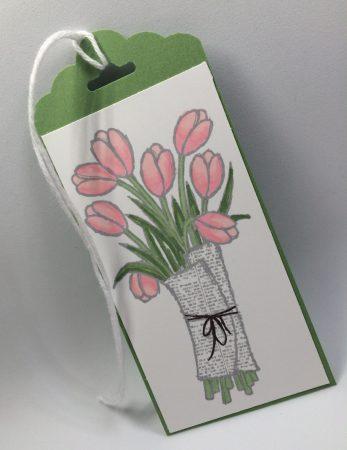 Tulip tag slanted