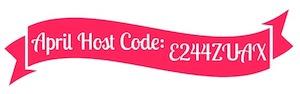 April Host Code Banner