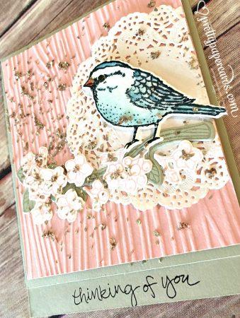 Glitter Bird angled cu