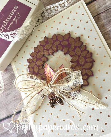 Copper Wreath angled L with ink