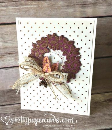 Copper wreath standing