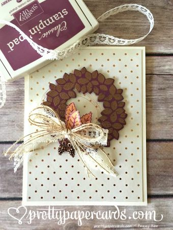 Copper wreath straight with ink
