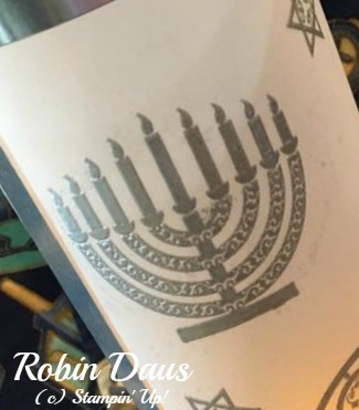 Robin Luminaries Chanukah cu menorah