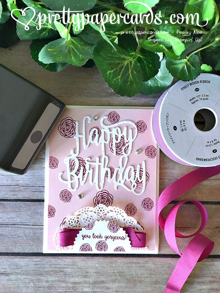 Gorgeous cards for july prettypapercards by mail pretty paper cards the happy birthday gorgeous stamp set is one of my absolute favorites in the annual catalog and the coordinating happy birthday thinlits dies are classic izmirmasajfo