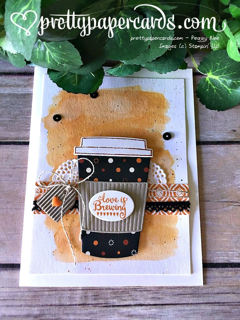 Stampin' Up! Coffee Cups Framelits Dies Coffee card - Peggy Noe Stampinup