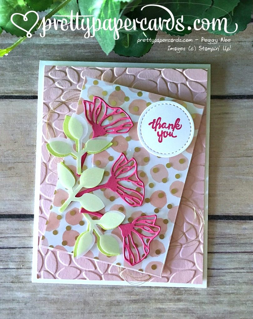 Stampin' Up! Eclectic Layers Thinlits Thank You Card - Peggy Noe - Stampinup