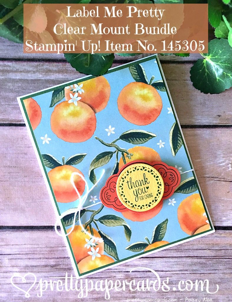Stampin' Up! Label Me Pretty Bundle Thank You Card - Peggy Noe - stampinup