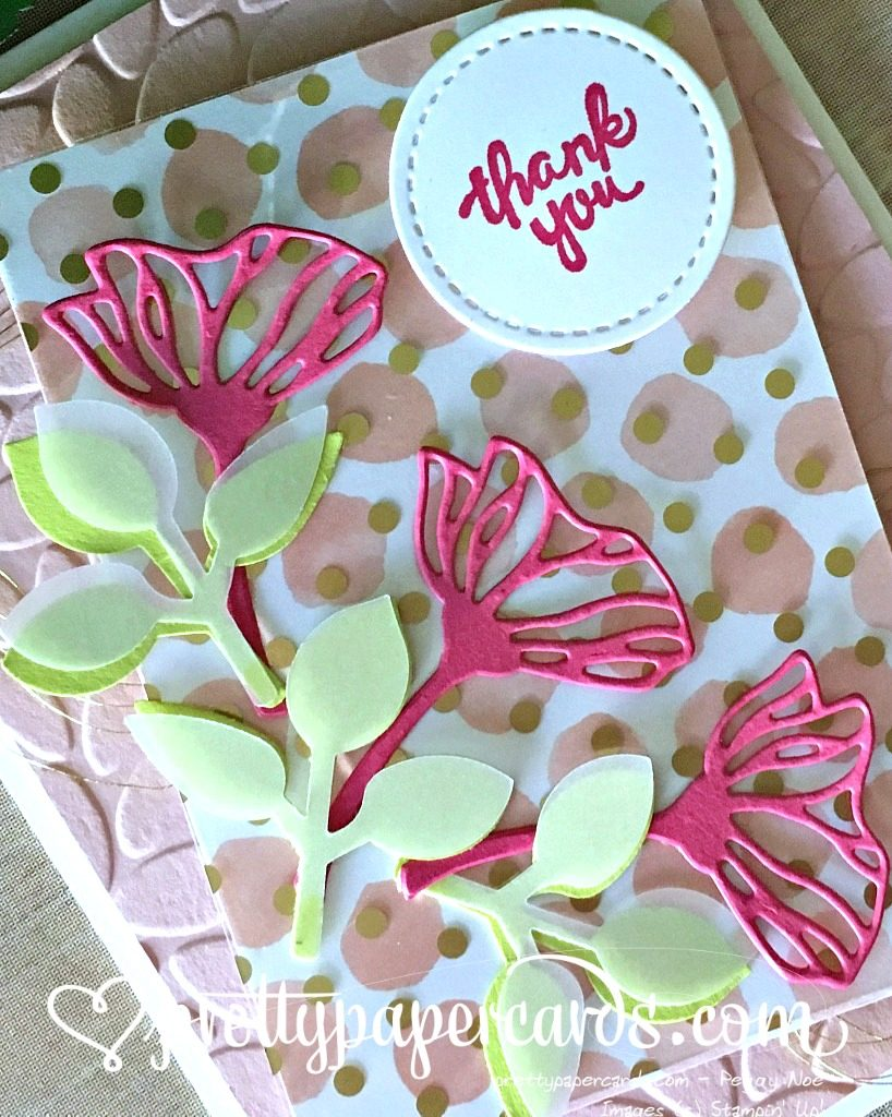 Stampin' Up! Leaf Punch Thank You Card - Peggy Noe - Stampinup