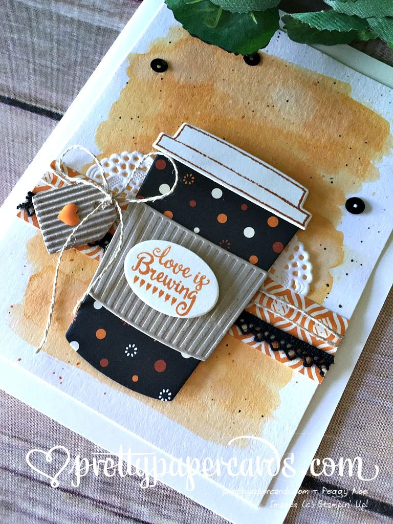 Stampin' Up! Merry Cafe Fall Card - Peggy Noe - stampinup