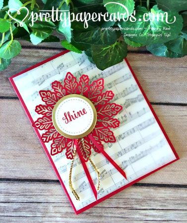 Stampin up Sheet Music Stamp Christmas Card ideas - Peggy Noe Stampinup