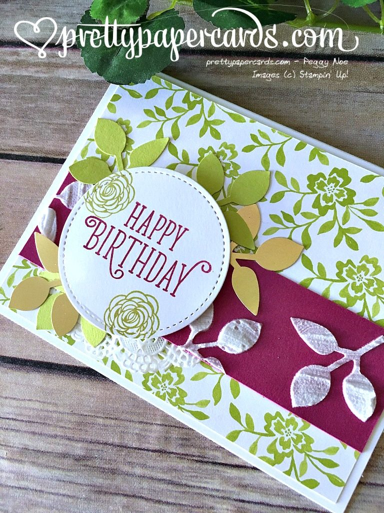 Stampin' Up! Birthday Gorgeous Birthday Card - Peggy Noe - stampinup