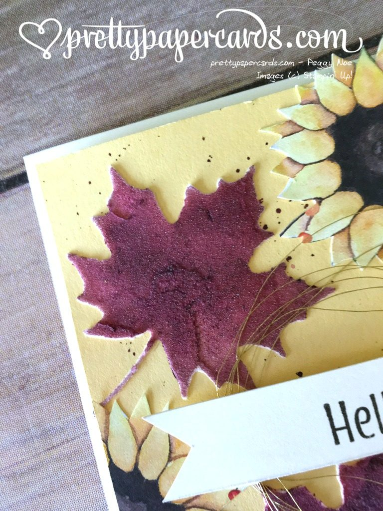 Stampin' Up! Embossing Paste Fall Card - Peggy Noe - stampin up