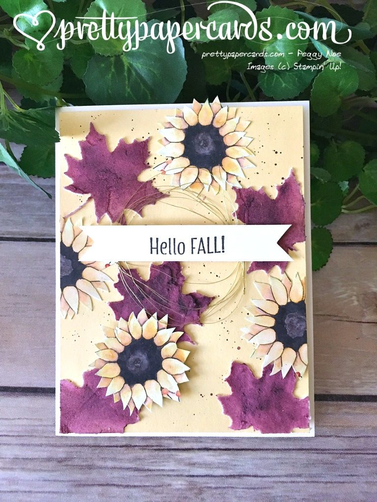 So Today I Made For You A True Fall Card! I Used A Fun Technique With  Embossing Paste And Have A Little Photo Tutorial For You. The Purple Leaves  On This ...