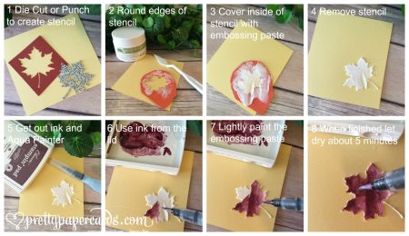 Stampin' Up! Embossing Paste Tutorial - Peggy Noe - stampinup