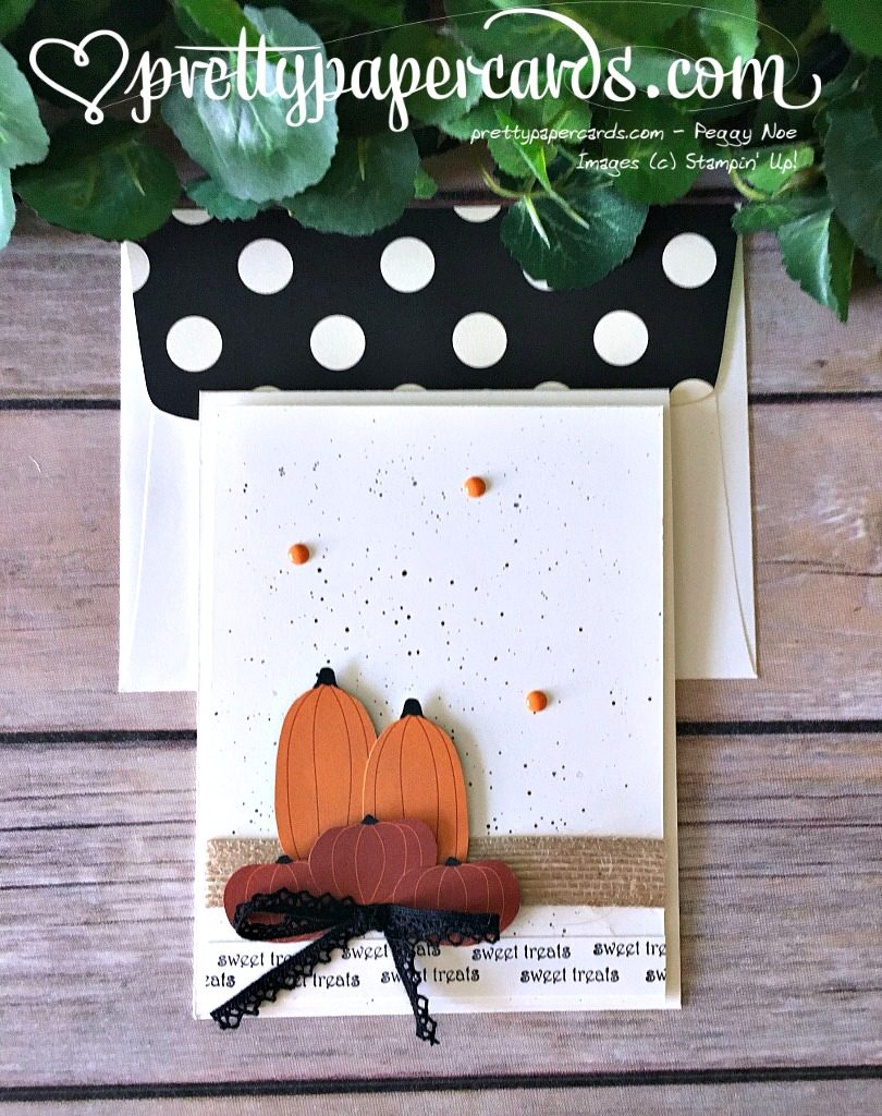 Stampin' Up! Fall Card Sweet Treats - Peggy Noe - stampinup