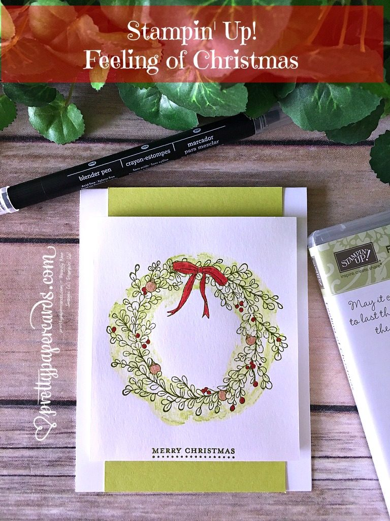 Stampin' Up! Feeling of Christmas, Christmas card - Peggy Noe - stampinup