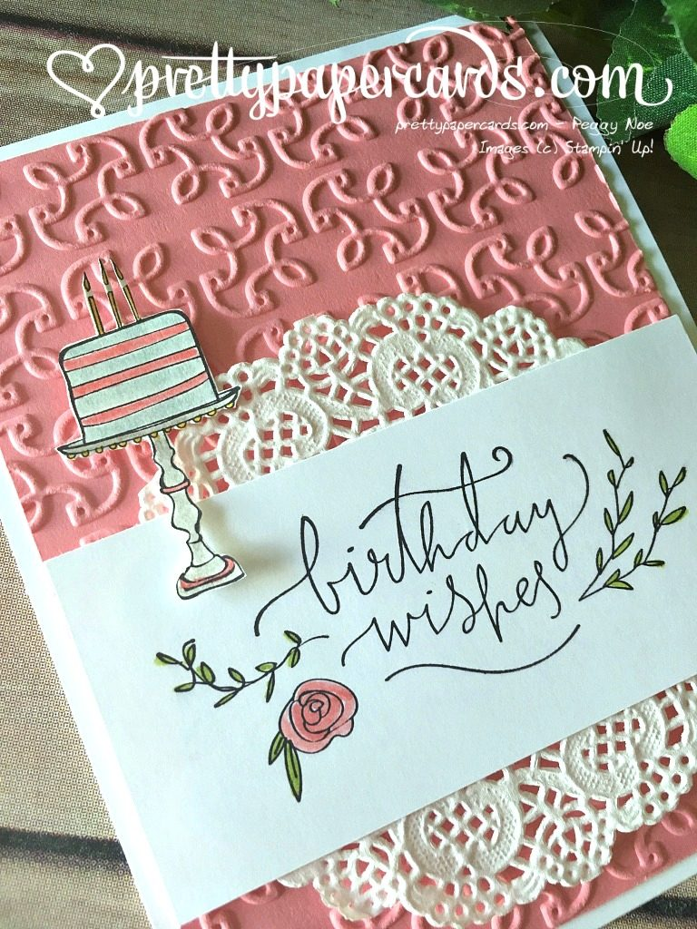 Stampin' Up! Happiest of Days Birthday Card - Peggy Noe - stampin up