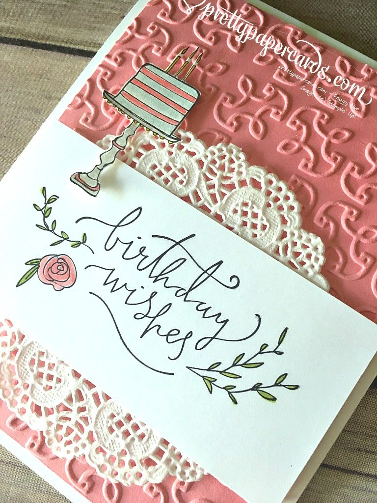 Stampin' Up! Happiest of Days Birthday Wishes Card - Peggy Noe - stampinup