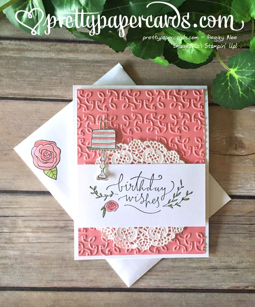 Stampin' Up! Happiest of Days Happy Birthday Card - Peggy Noe - stampin up