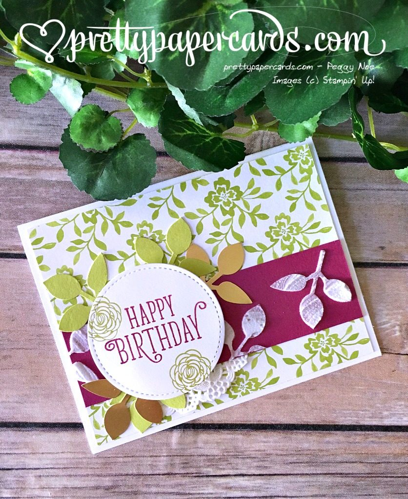 Stampin' Up! Happy Birthday Gorgeous Birthday Card - Peggy Noe - stampinup