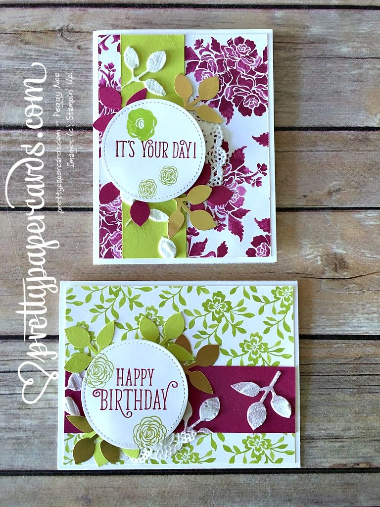 Stampin' Up! Happy Birthday Gorgeous Birthday Cards - Peggy Noe - stampinup