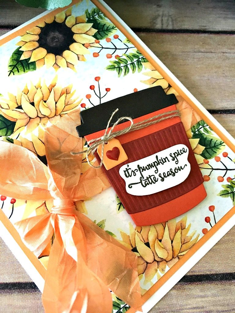 Stampin' Up! Merry Cafe Autumn Harvest Card - Peggy Noe - stampinup