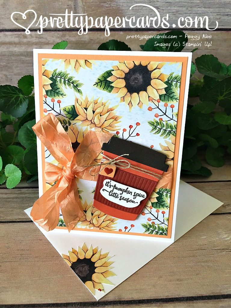 Stampin' Up! Merry Cafe Coffee Card - Peggy Noe - stampinup