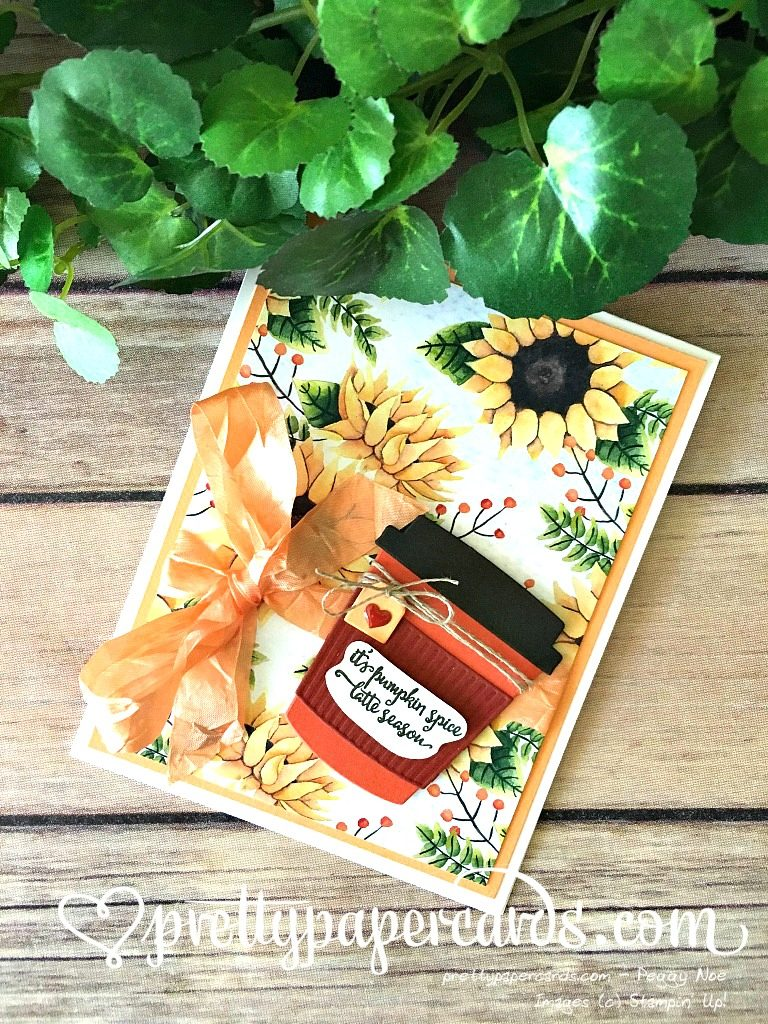 Stampin' Up! Merry Cafe Pumpkin Spice Card - Peggy Noe - stampinup
