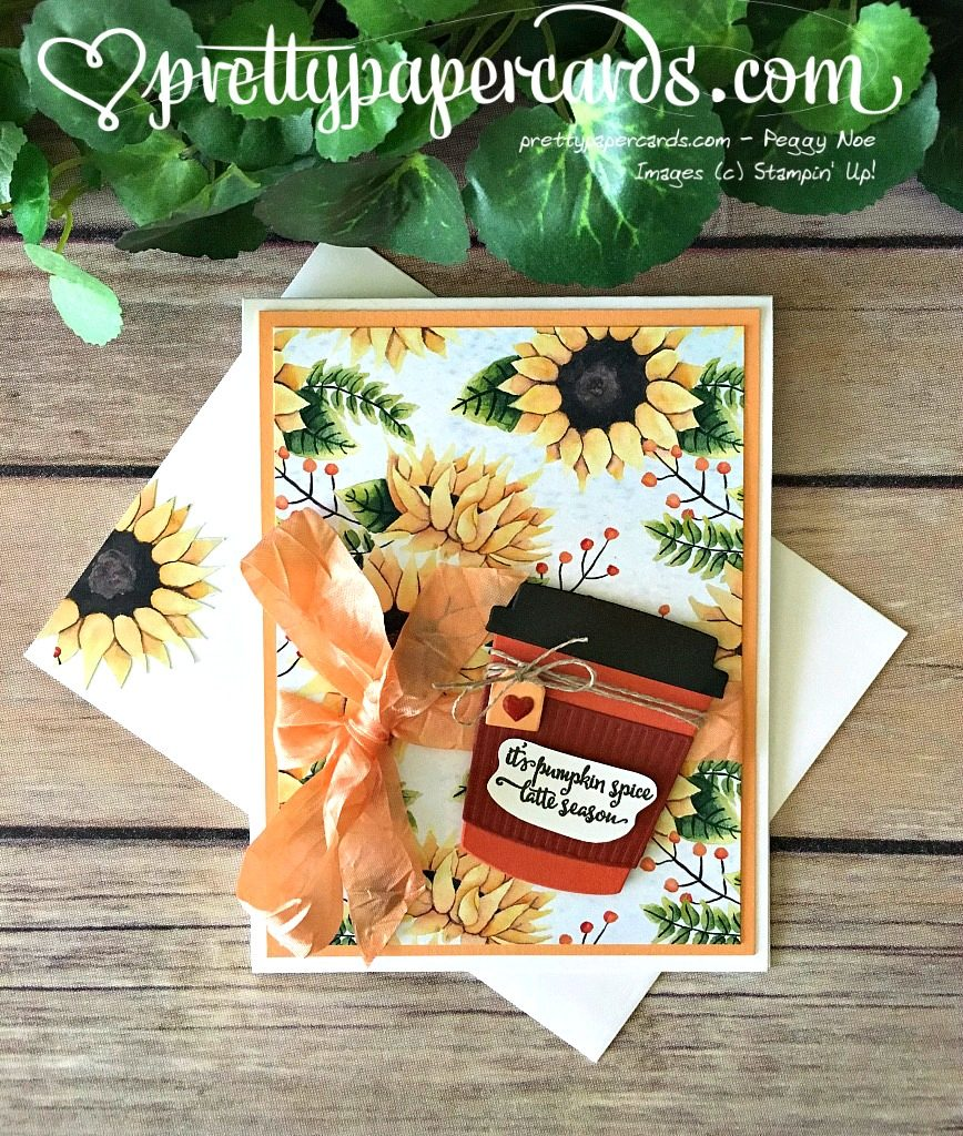 Stampin' Up! Merry Cafe Sunflower Card - Peggy Noe - stampinup