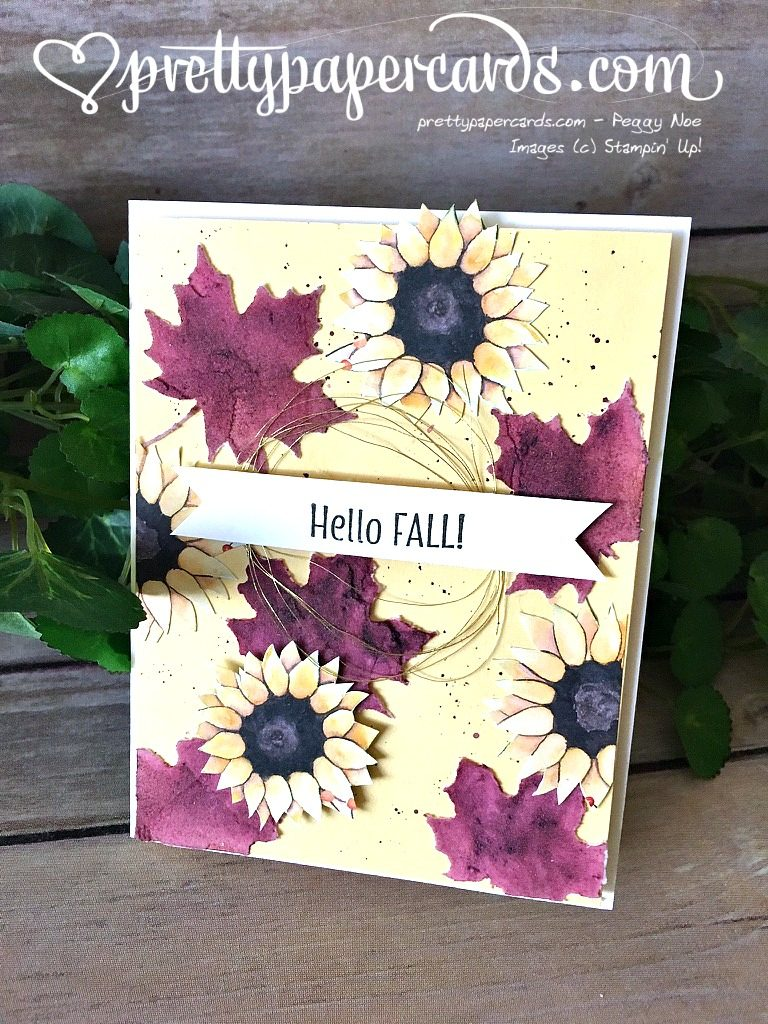 Stampin' Up! Seasonal Layers Thinlits Hello Fall Card - Peggy Noe - stampin up
